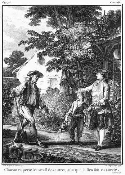 engraving for Rousseau's Emile